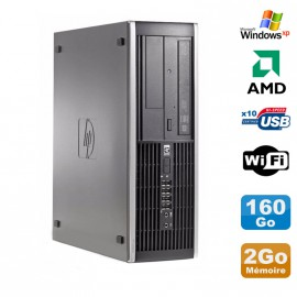 PC HP Compaq 6005 Pro SFF AMD 3GHz 2Go DDR3 160Go SATA Graveur WIFI Windows Xp