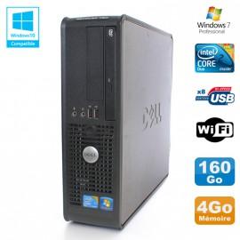 PC DELL Optiplex 780 Sff Core 2 Duo E8400 3Ghz 4Go DDR3 160Go WIFI Win 7 Pro