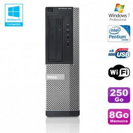 PC DELL Optiplex 390 DT G630 2.7Ghz 8Go 250Go Graveur DVD WIFI HDMI Win 7 Pro