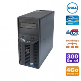 Serveur DELL PowerEdge T110 II Xeon Quad Core E3-1220 3.1Ghz 4Go 4x300Go SAS