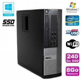 PC DELL Optiplex 790 SFF Intel core i3 3.3Ghz 8Go DDR3 240Go SSD WIFI Win 7 Pro