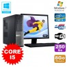 Lot PC Dell 3010 DT Intel Core I5 3.1Ghz 8Go 250Go Graveur WIFI Win 7 + 19""