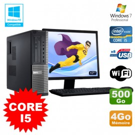 Lot PC Dell 3010 DT Core I5 3.1Ghz 4Go 500Go Graveur WIFI Win 7 + Ecran 17""