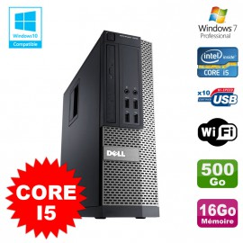 PC Dell Optiplex 7010 SFF Core I5 2400 3.2GHz 16Go Disque 500Go Wifi W7