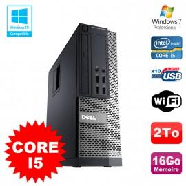 PC Dell Optiplex 7010 SFF Core I5 2400 3.2GHz 16Go Disque 2To Wifi W7