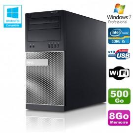 PC Tour Dell Optiplex 790 Intel Core I5 3.1Ghz 8Go Disque 500 Go DVD WIFI Win 7