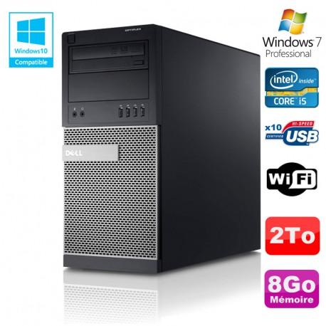 PC Tour Dell Optiplex 790 Intel Core I5 3.1Ghz 8Go Disque 2To DVD WIFI Win 7