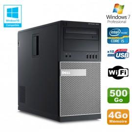 PC Tour Dell Optiplex 7010 Core I5-3470 3.2Ghz 4Go Disque 500Go DVD WIFI Win 7