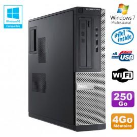 PC DELL Optiplex 3010 DT Intel G2020 DVD 4Go Disque 250Go HDMI Wifi Win 7 Pro