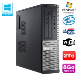 PC DELL Optiplex 3010 DT Intel G2020 DVD 8Go Disque 2To HDMI Wifi Win 7 Pro