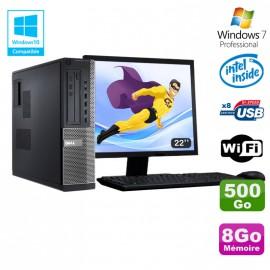 """Lot PC DELL 3010 DT Intel G2020 DVD 8Go Disque 500Go HDMI Wifi Win 7 + Ecran 22"""""""