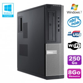 PC DELL Optiplex 390 DT G2020 DVD Ram 8Go DDR3 Disque 250Go Wifi HDMI Win 7