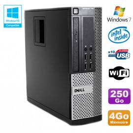 PC DELL Optiplex 790 SFF Intel G2020 Ram 4Go DDR3 Disque 250Go WIFI Win 7