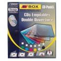 Boite Etui Range Dj Classeur Rangement Boitier Empilable Disque DVD CD Pack x 5