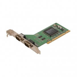 Carte Pci Série 2 Ports RS-232 DB9 Moxa CP-102U Mu-860 EIA TIA UART Adaptateur