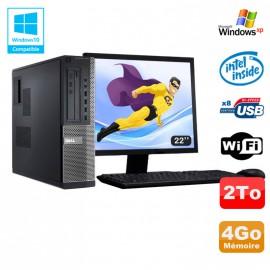 Lot PC DELL Optiplex 3010 DT G2020 2.9Ghz 4Go 2000Go DVD WIFI Win XP + Ecran 22