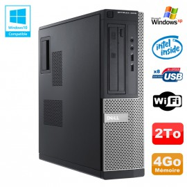 PC DELL Optiplex 3010 DT Intel G2020 2.9Ghz 4Go 2000Go DVD WIFI HDMI Win XP