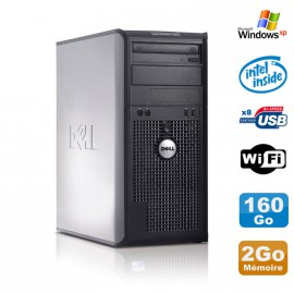 PC Tour DELL Optiplex 360 MT Intel E7400 2.8Ghz 2Go Disque 160Go DVD WIFI Win XP