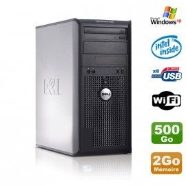 PC Tour DELL Optiplex 360 MT Intel E7400 2.8Ghz 2Go Disque 500Go DVD WIFI Win XP