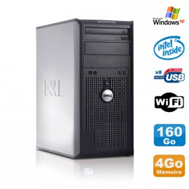PC Tour DELL Optiplex 360 MT Intel E7400 2.8Ghz 4Go Disque 160Go DVD WIFI Win XP