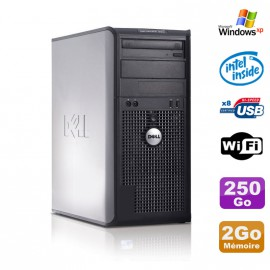 PC Tour DELL Optiplex 360 MT Intel E7400 2.8Ghz 2Go Disque 250Go DVD WIFI Win XP