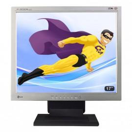"Ecran Plat PC 17"" LCD LG Flatron L1710B 1280x1024 Réglable DVI VGA VESA"
