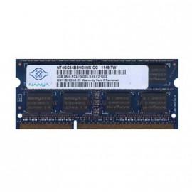 4Go RAM PC Portable SODIMM Nanya NT4GC64B8HG0NS-CG DDR3 PC3-10600S 2Rx8 1333MHz