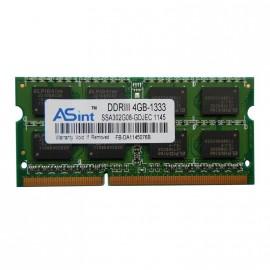 4Go RAM PC Portable SODIMM ASint SSA302G08-GDJEC DDR3 PC3-10600S 2Rx8 1333MHz