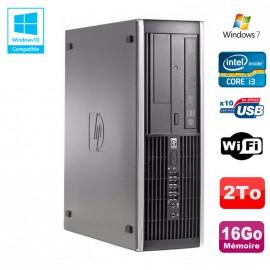 PC HP Compaq Elite 8200 SFF Intel Core I3-2100 3.1GHz 16Go 2To Graveur WIFI W7