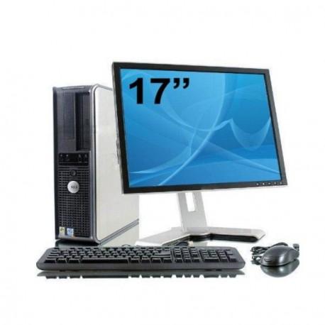Lot PC DELL Optiplex GX620 DT Intel Dual Core 2,8Ghz 2Go 160Go XP Pro + Ecran 17