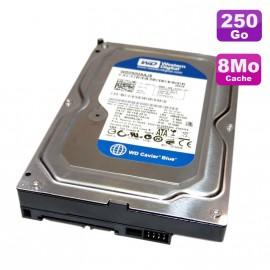 """Disque Dur 250Go SATA 3.5"""" Western Digital Caviar Blue WD2500AAJS-75M0A0 7200 8Mo"""