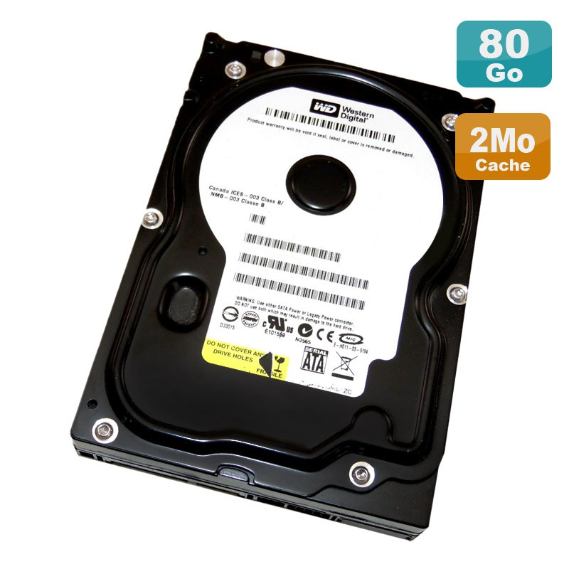 disque dur 80go sata 3 5 western digital caviar wd800bd 00mra1 7200rpm 2mo monsieurcyberman. Black Bedroom Furniture Sets. Home Design Ideas