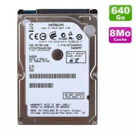 """Disque Dur 640Go SATA 2.5"""" Hitachi HTS547564A9E384 Pc Portable 8Mo"""