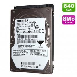 """Disque Dur 640Go SATA 2.5"""" Toshiba MK6476GSX Pc Portable 8Mo"""