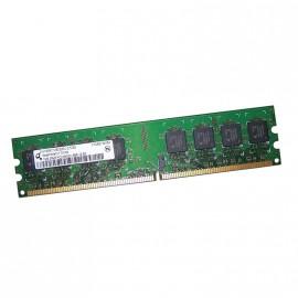1Go RAM QIMONDA HYS64T128020EU-2.5B2 240-Pin DIMM DDR2 PC2-6400U 800Mhz 2Rx8 CL6