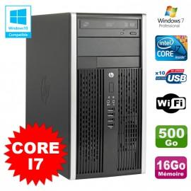 PC Tour HP Elite 8200 Core I7 3,4Ghz 16Go Disque 500Go Graveur WIFI Win 7