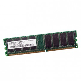 512Mo Ram MICRON MT8VDDT6464AY-40BD1 184-PIN DDR PC-3200U 400Mhz 1Rx8 CL3