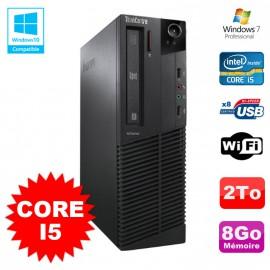 PC Lenovo M91p 7005 SFF Intel Core I5 3,1Ghz 8Go Disque 2To WIFI W7 Pro