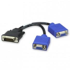 Câble doubleur DMS-59 vers 2x Sorties Ecrans VGA Carte Graphique Dual Screen