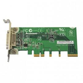 Carte Adaptateur vidéo DVI-I PCI-E x16 LENOVO 43C0258 ADD2 double écran Low Profile
