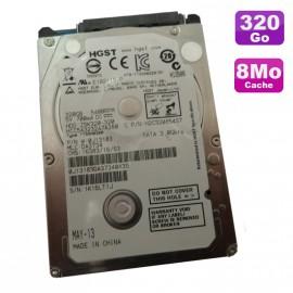 "Disque Dur PC Portable 320Go SATA 2.5"" HGST H2C320854S7 5400RPM 8Mo"