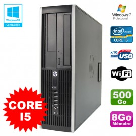 PC HP Elite 8200 SFF Intel Core I5 3.1GHz 8Go Disque 500Go DVD WIFI W7