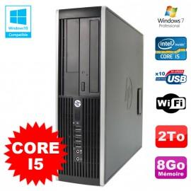 PC HP Elite 8200 SFF Intel Core I5 3.1GHz 8Go Disque 2To DVD WIFI W7