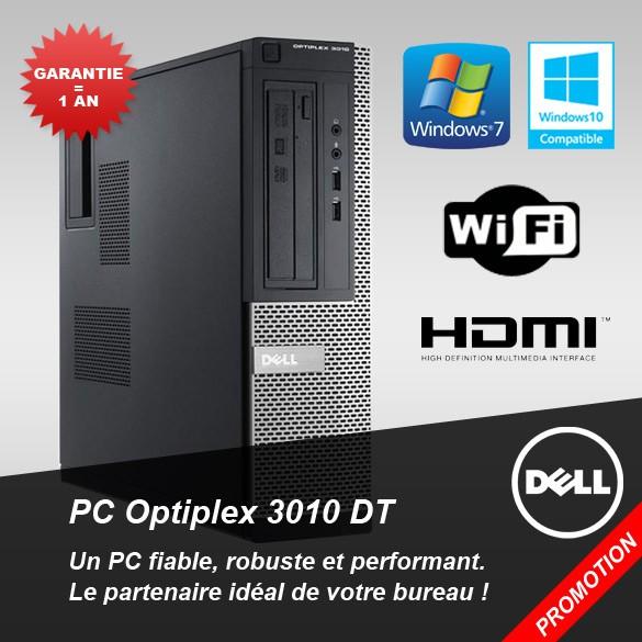 PC Dell Optiplex 3010 DT, Le partenaire idéal de votre bureau
