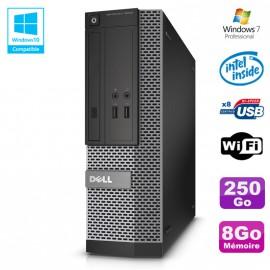 PC Dell Optiplex 3020 SFF Intel G3220 3GHz 8Go Disque 250Go DVD Wifi W7