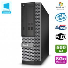 PC Dell Optiplex 3020 SFF Intel G3220 3GHz 8Go Disque 500Go DVD Wifi W7