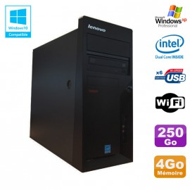PC Tour Lenovo M58E Intel E5200 2.5GHz 4Go Disque 250Go DVD Wifi XP