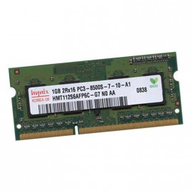1Go RAM PC Portable SODIMM Hynix HMT112S6AFP6C-G7 PC3-8500U DDR3 1066MHz CL7