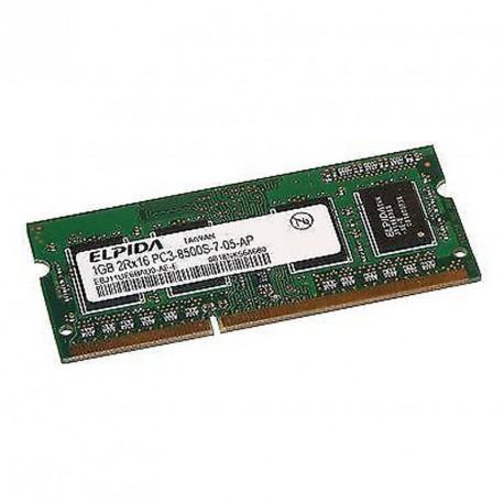 1Go RAM PC Portable ELPIDA EBJ11UE6BAU0-AE-E PC3-8500U SODIMM DDR3 1066MHz CL7