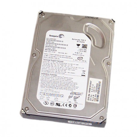 Disque Dur 80Go Seagate Barracuda ST3808110AS 3.5 Sata 8Mo 7200.9